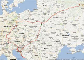 Touran 1.2 TSI. Впечатленя от поездки в Европу-map_track_all.jpg
