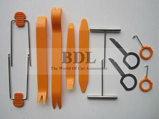Снятие потолка.-12pcs-car-door-interior-plastic-trim